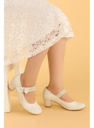 Kiko Kids Kiko 752 Çupra Günlük Kız Çocuk 4 Cm Topuk Babet Ayakkabı Beyaz